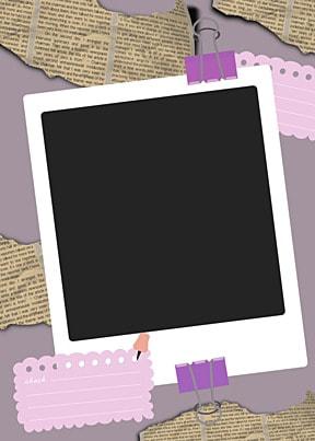 polaroid photo paper purple notebook paper background