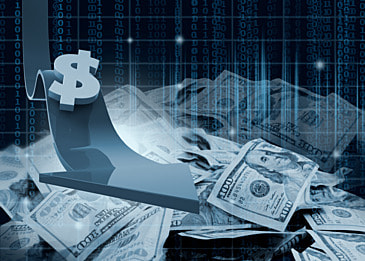 abstract background of business finance dollar symbol