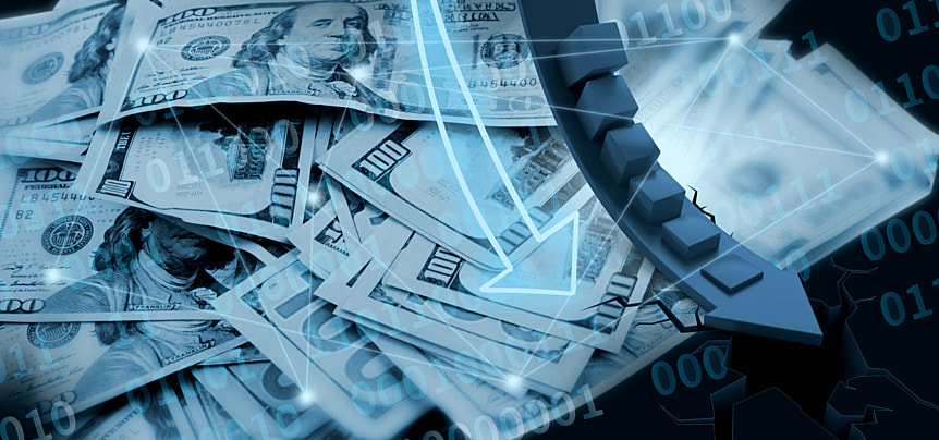 abstract background of business finance