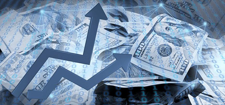 business finance cartoon arrow abstract dollar symbol background