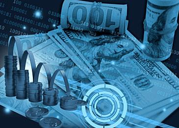 business finance data usd background
