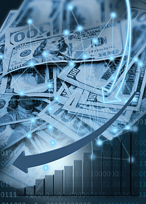 business finance dollar stock market abstract symbol background