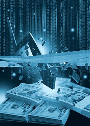 business finance down arrow dollar background