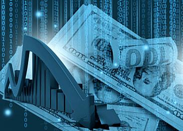 business finance stock market data dollar background