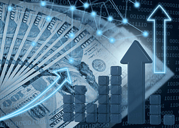 business finance stock market stack data abstract dollar background