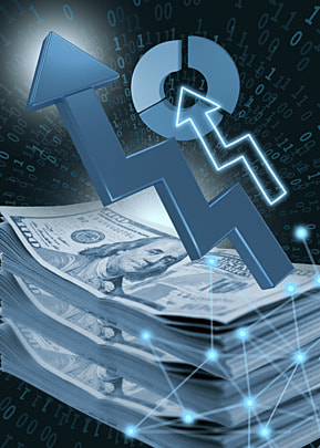 business finance stock market symbol abstract dollar background