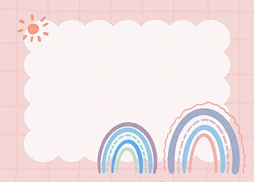 bohemian rainbow blue stripe background