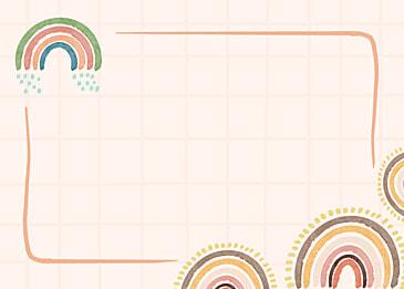 bohemian rainbow dotted grid border