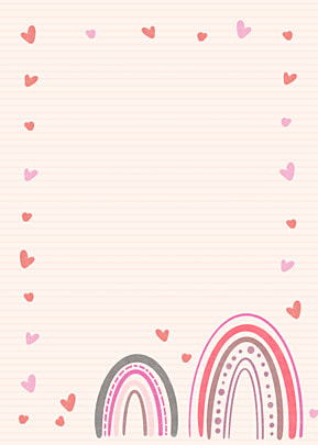 bohemian rainbow pink shading love background