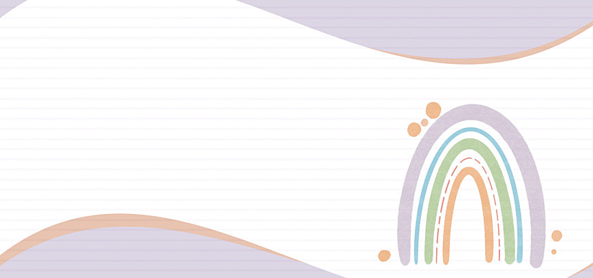 bohemian rainbow wave line background