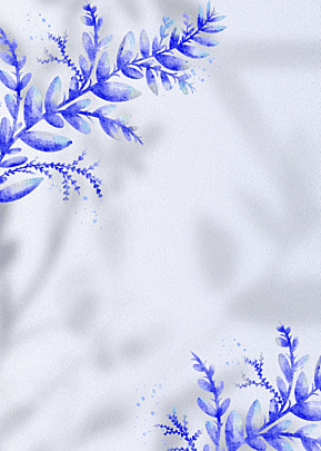 flower shadow blue abstract leaf pattern decorative background