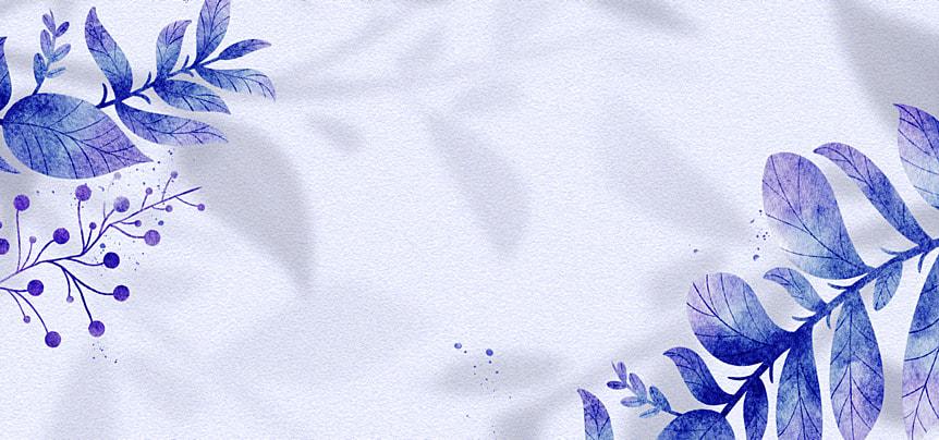 flower shadow blue flower watercolor background