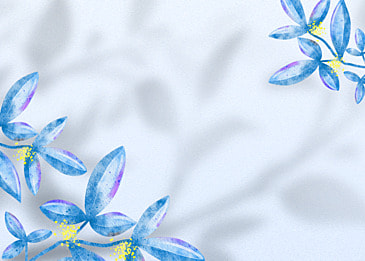 flower shadow cartoon style leaf decorative background
