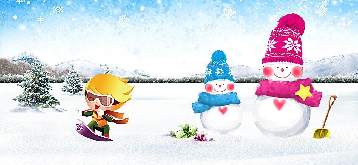 Schnee hintergrund Der Schneemann Cartoon Weihnachten Poster ...