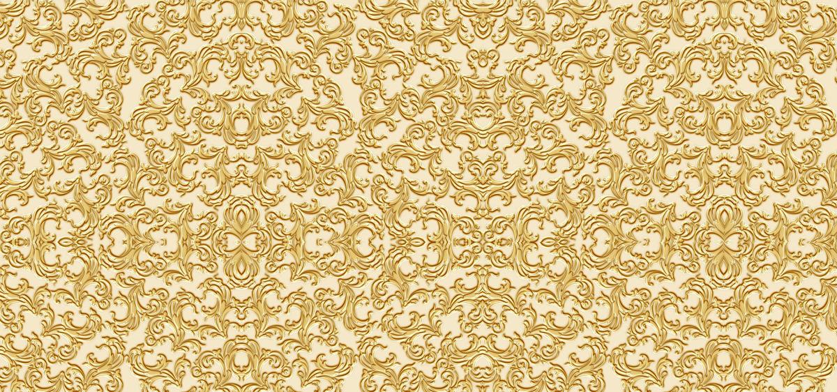 Damask Pattern Wallpaper Arabesque Background Seamless Fabric