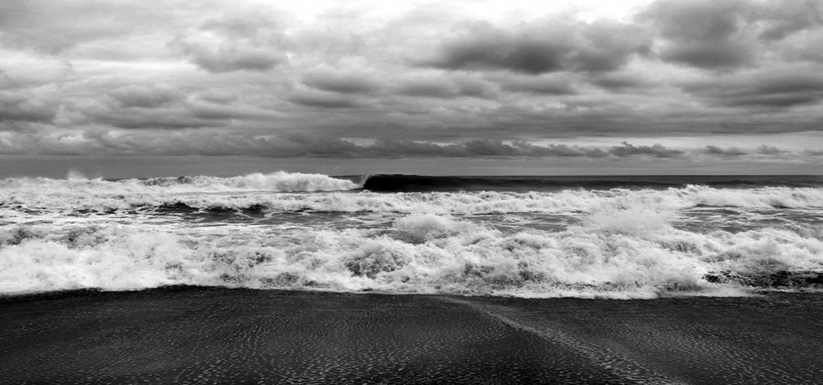 In Bianco E Nero Di Marea Di Base In Bianco E Nero La Marea Il Mare