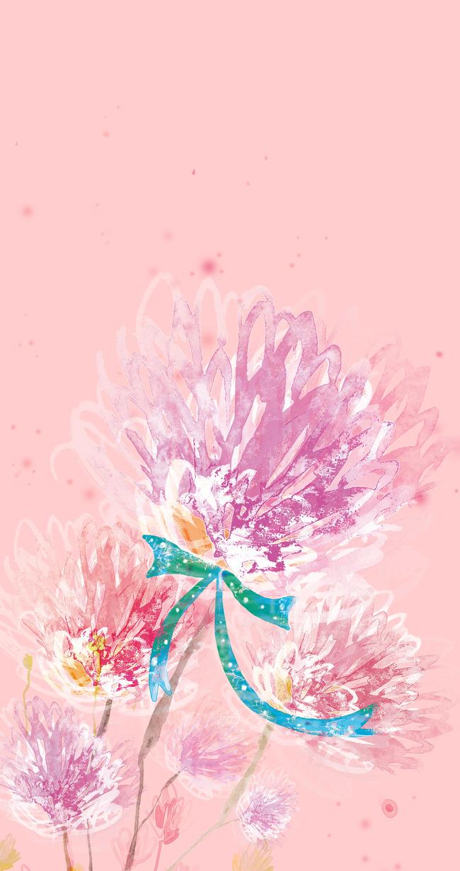 Floral Flower Lilac Pink Background Pattern Design Decorative