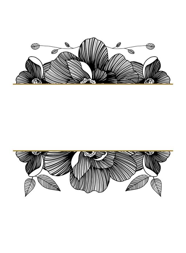 Stencil Design Floral Art Background, Ornament, Decoration