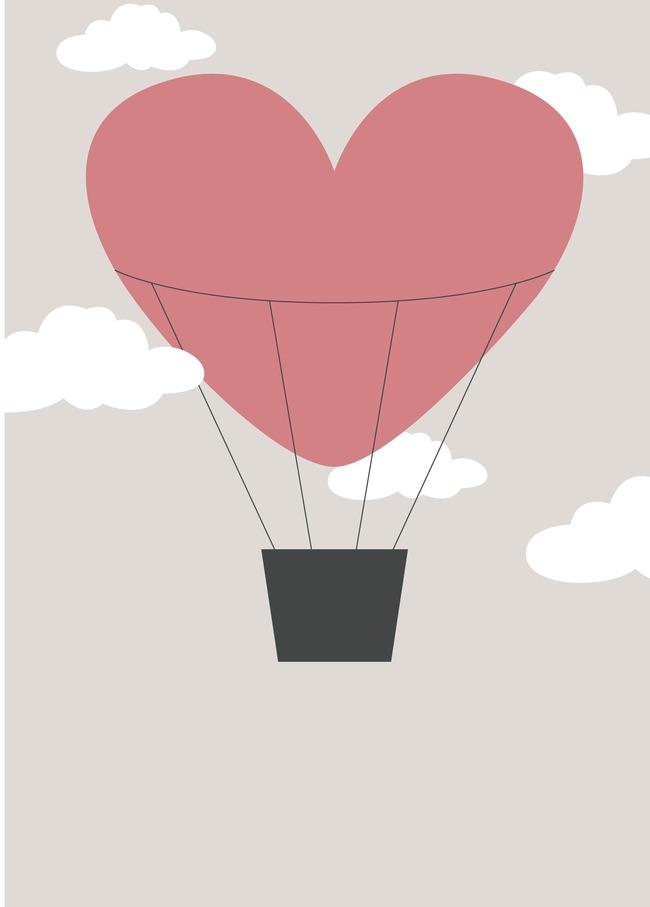 Oxygen Design Valentine Balloon Background Cartoon Heart Symbol