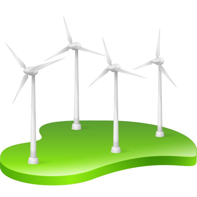 Generator Symbol Icon Environment Background Wind Energy 3d