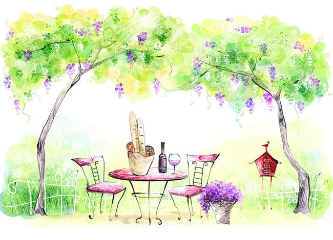 Fondo floral flor hoja de color rosa Arte La Primavera Lila Imagen ...