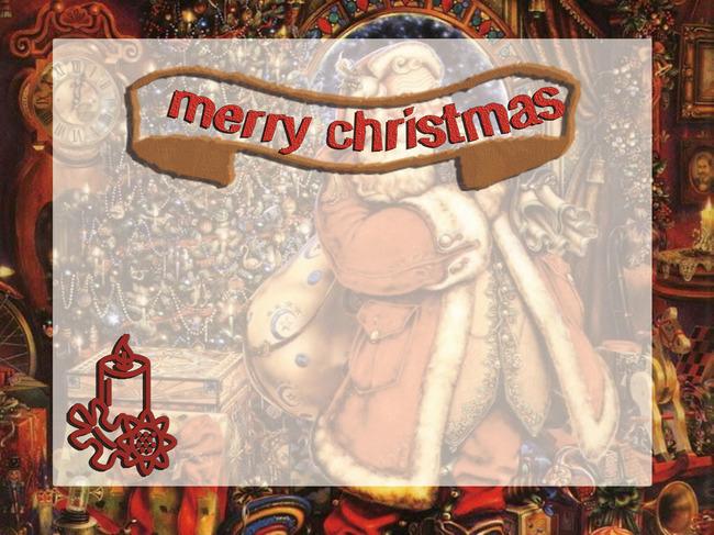 O Natal Vintage Dark Red Background