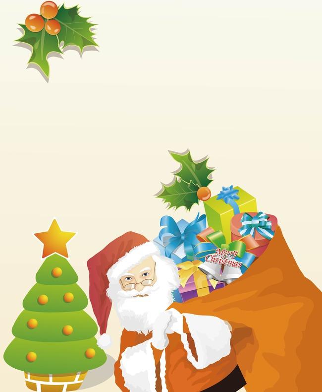 Vector handbemalte Weihnachten Santa hintergrund Vector Cartoon ...