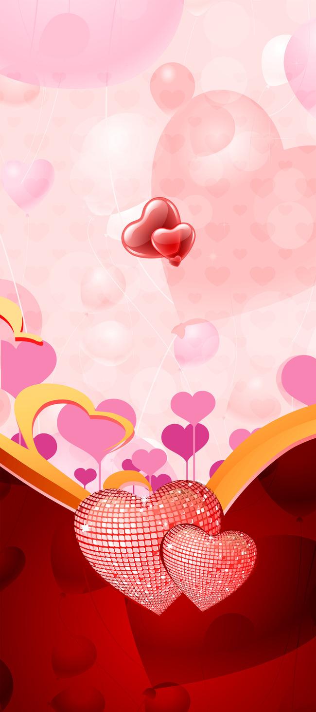 Design Pink Pattern Wallpaper Background Art Frame Heart