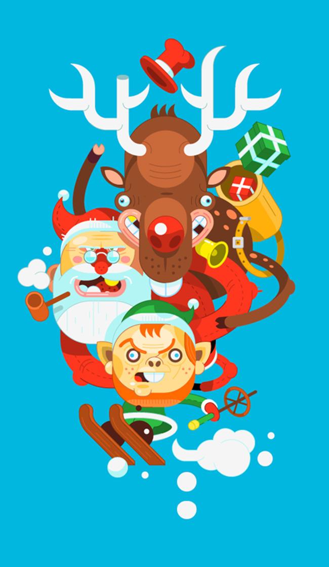 Verrückte Weihnachten süß hintergrund Weihnachten Cartoon Verrückte ...