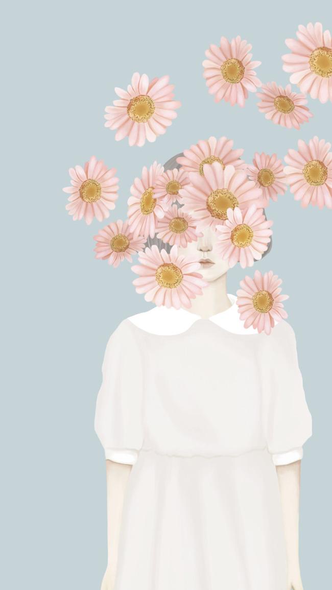 Bordado floral flor de diseño de fondo Patrón Decorativo La ...