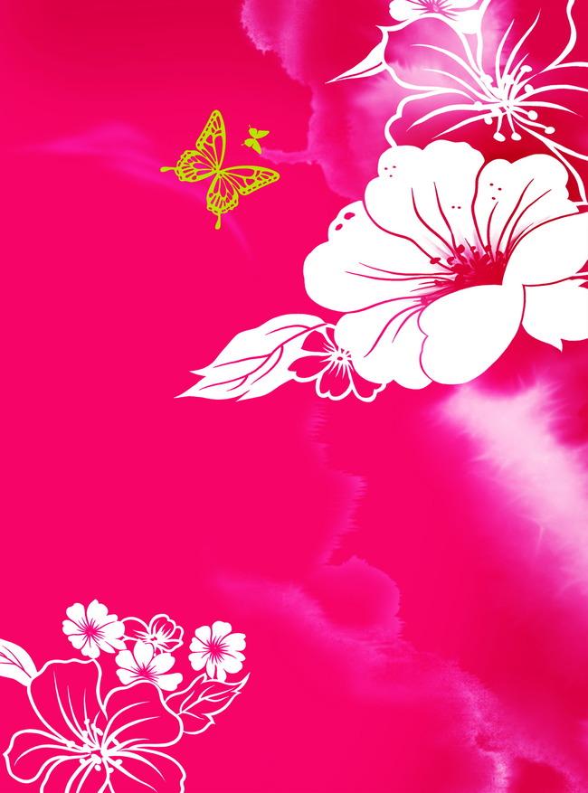 Floral pink flower decoration background design pattern wallpaper floral pink flower decoration background mightylinksfo