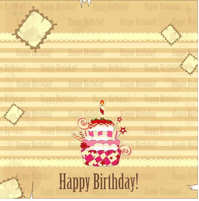 Birthday Cake Poster Background Material Cake Birthday Posters