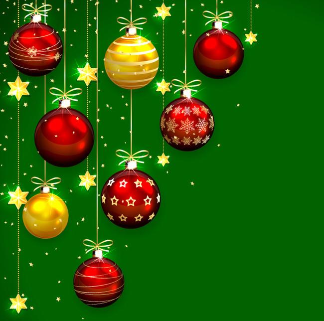 Immagini Di Natale Bellissime.Belle Palle Di Natale Di Progettazione Del Vettore Materiale