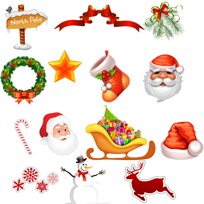 Le Decorazioni Di Natale Natale Il Cappello Di Babbo Natale La