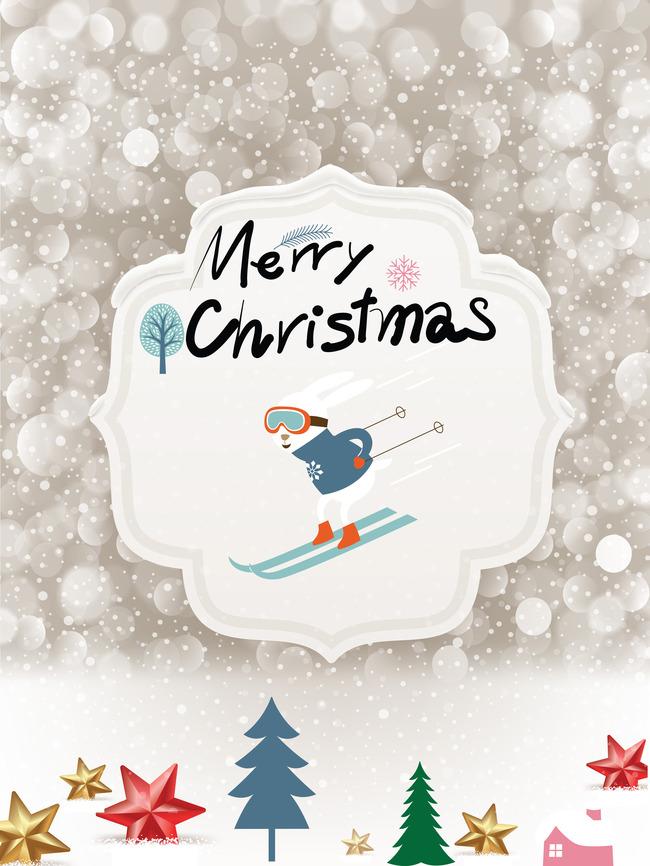 Navidad ski actividades al aire libre material de antecedentes ...