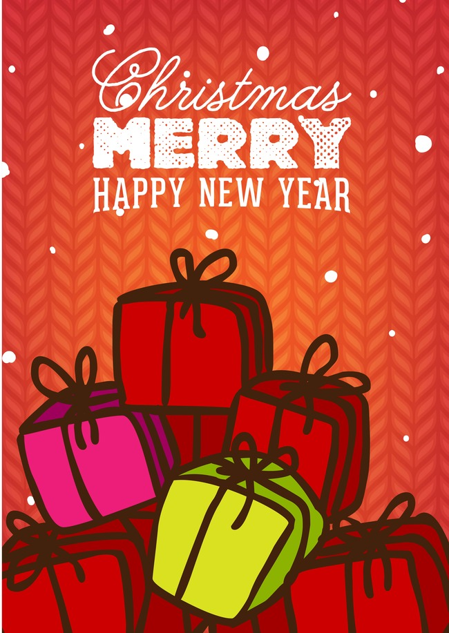 christmas new year poster design template background