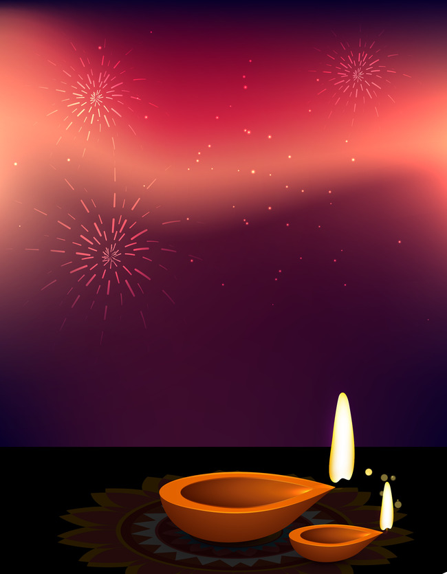 Diwali Festival Fireworks Celebration Background