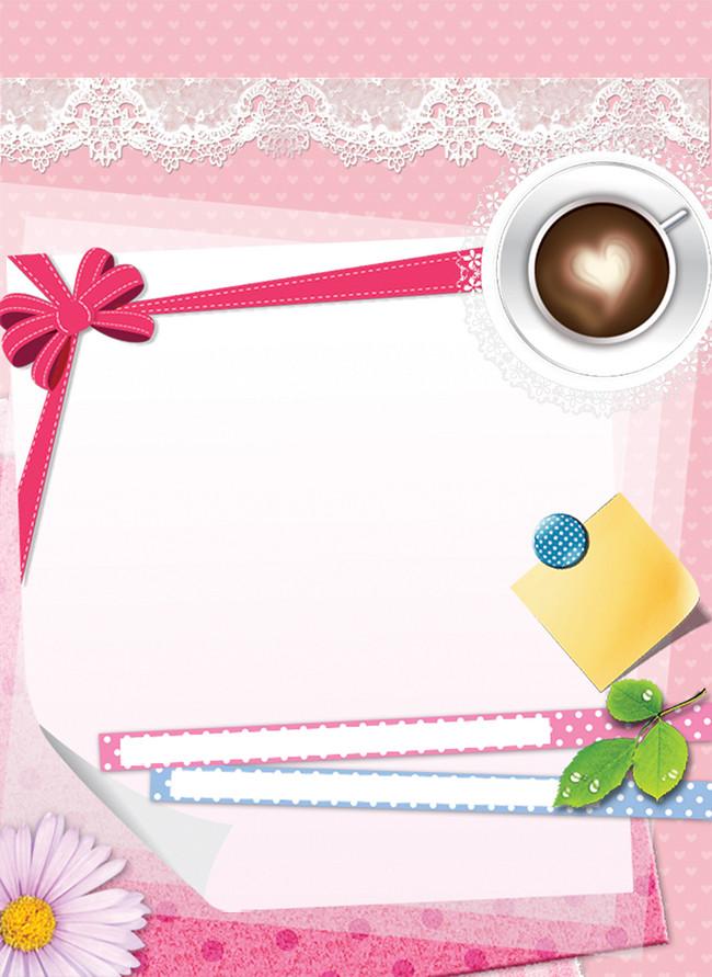 Frame Card Design Decoration Background Ribbon Floral Envelope
