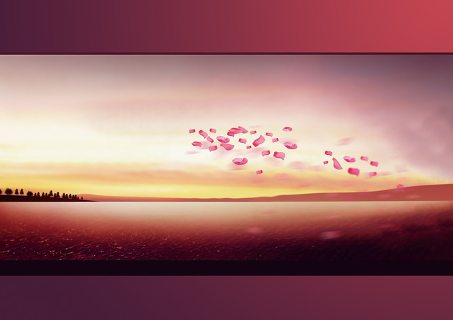 Tray Light Sunset Receptacle Background
