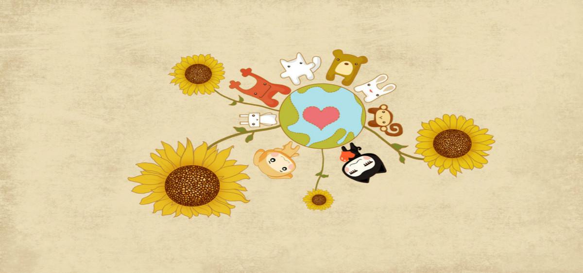 Fleur De Coton Base Dessin Floral Art Decoration Cartoon Image De
