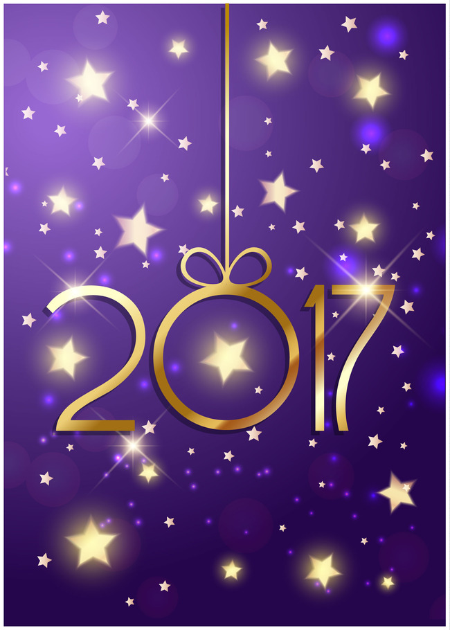 2017 purple dream christmas new year background