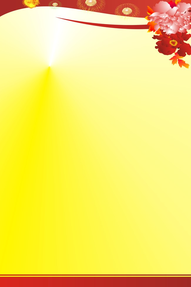 new year poster background template daquan yellow flowers festive background image