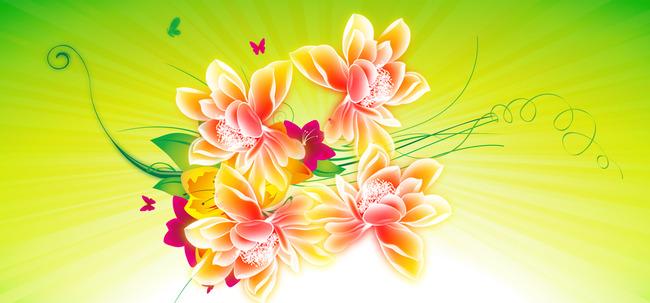 Floral Lotus Flower Design Background