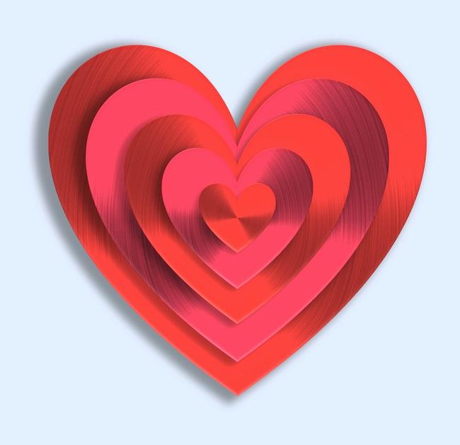 Heart Love Symbol Valentine Background Romance Celebration Shape