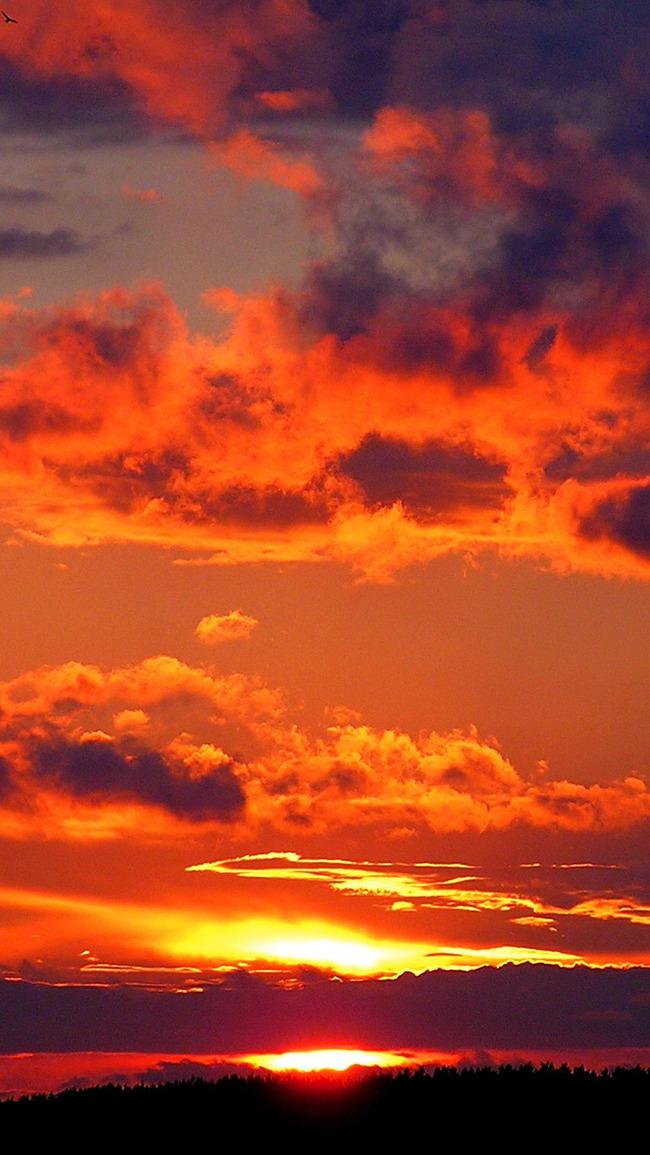 Awan Merah Pada Waktu Senja Bergerak Terminal H5 Latar Belakang
