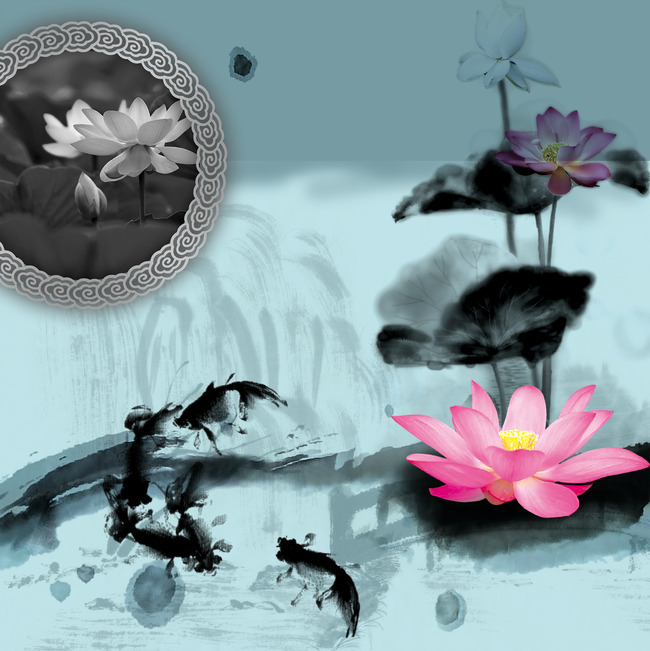 Flower Pink Ribbon Spa Background Floral Treatment Lotus