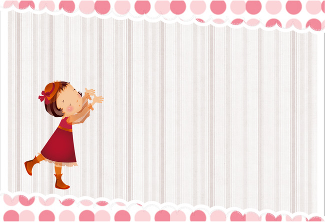 the little girl fresh stripes poster background template children photo calendar background image for free download