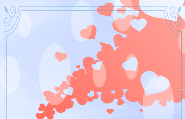 Design Card Pattern Wallpaper Background Decoration Love Heart