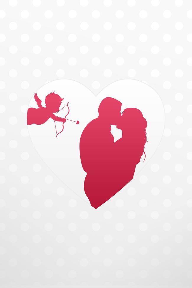 Love Pink Card Heart Background Celebration Holiday Valentine