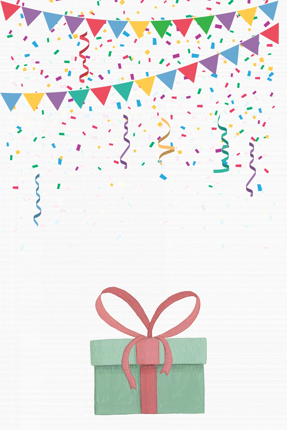 Birthday Party Invitation Poster Vector Background Gift